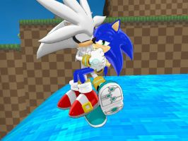 Silver Saved Sonic ( Sonilver ) by Jordy2000