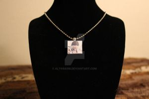 Snow Villiers - FFXIII - Scrabble Tile Necklace by AlyssaGM