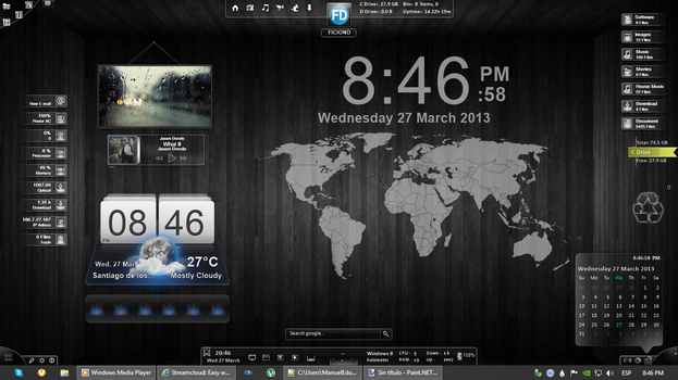 My Rainmeter Desktop by FicionD