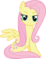 Displeased Fluttershy Vector by ahvash