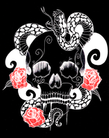 Skull+Snake combo by TheGeef