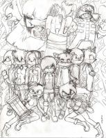 Dark Chaos Cover Pencil by Kawaiikutie778