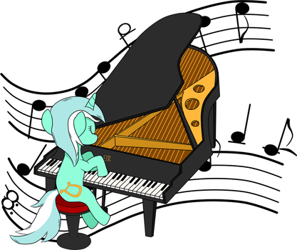 Lyra, Piano Player by Emper24