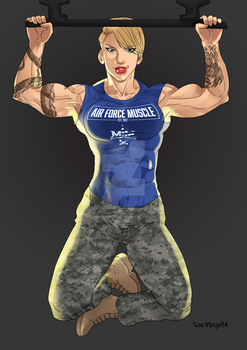 [C] Amber Harlow - Air Force Muscle by roemesquita