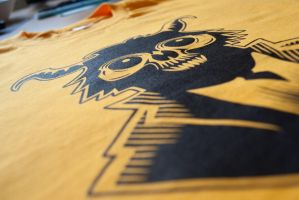 Monkey Demon Tee detail by Rustyoldtown