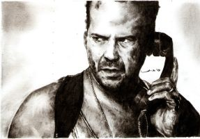 Diehard - Bruce Willis by tengari