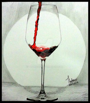 Pouring Red Wine by Thahaseen