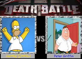 Homer Simpson vs. Peter Griffin by cartoonfan22