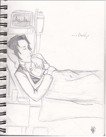 RP  sketch: a late night in the hospital by FantasyDreamer16