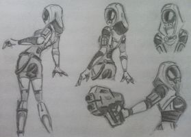 sketches Tali (31) by spaceMAXmarine