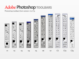 Photoshop toolbars: 1 to CS3 by lukeroberts