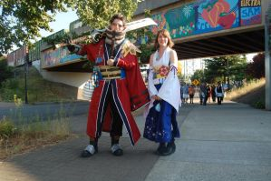 Auron and Yuna Kumoricon by Z-studios