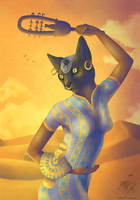 Goddess Of Pleasure: Bastet by The-Hare