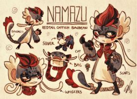 Namazu Ref. Sheet [Commission] by Baraayas