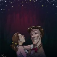 Eleven and Molly - Stars by lexieken
