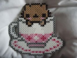 Tea Cup Kitty by PerlerHime