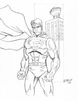 superman sketch 3-11 by Glwills1126