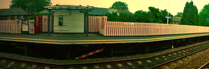 Train Station Panorama by Adamowsky-Design