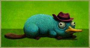 Perry, the Platypus by tropicalraccoon