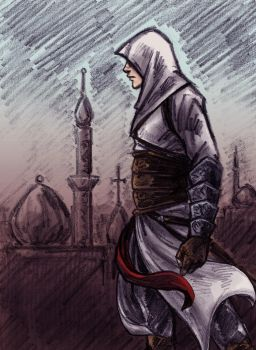 Assassin's Creed Colored Sketch by ahmettorun