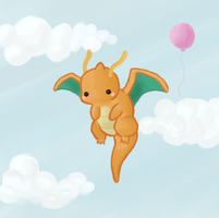 Chibi Dragonite by the-newby