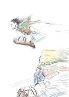 loki and thor - attack on titan style by TwinEnigma