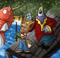 """That's a big one, Arco"" Fishing Tourney by Bread-Crumbz"