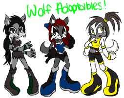 Wolf Adoptables by eternityspark