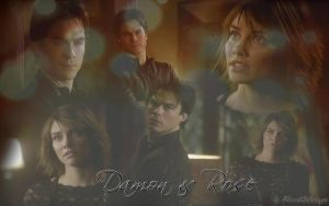 Rose and Damon Salvatore by RoseHathaway24