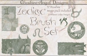 Zodiac Brush Set by Cheshire-Angel