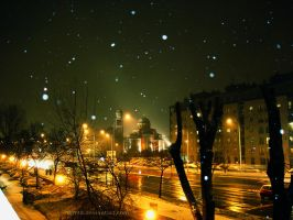 Snowy night by djn90