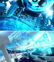 Intel Bots Intro Screens .02 by arturhilger