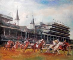 kentucky derby by charles-hall