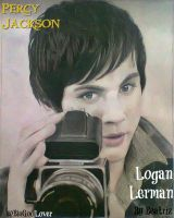 Logan Lerman - Drawing by BeatrizLoveMyJesus