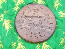 Hickory_Pine Rune Pentacle by sesshys-jaded-samuri