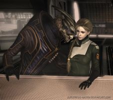 Not in public, Garrus... by Sorceress-Nadira