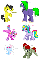 Themed adoptables 29-34 CLOSED by BronyBase