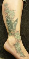 Butterfly Colour Tattoo by 2Face-Tattoo