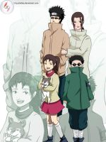 Shino's family by Aldely