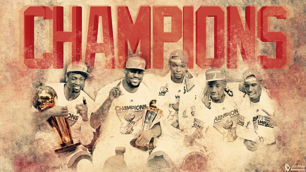 Miami Heat Champions by lucasitodesign
