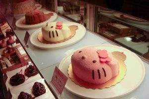 Hello Kitty Cakes by Eyesindark