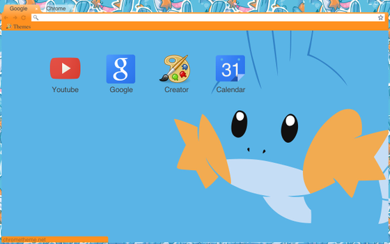 Mudkip Google Chrome Theme by Pasta-OrDie