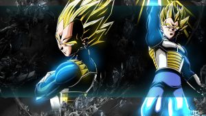 Vegeta - Darkness - Wallpaper by MarvelousMark