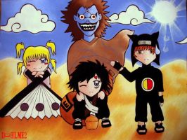 Death Note:  Cross-over by duelme2