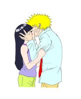 NaruHina - Kiss by ButterflyFire