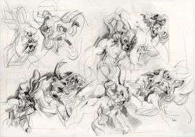 Minotaur and Rabbit Variations by ChloeC