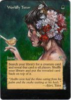 Magic the Gathering Alteration: Worldly Tutor by Ondal-the-Fool