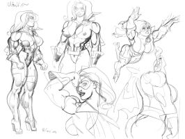 Ultra Vixen sketches Jed by MaelstromMediaComics