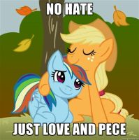 no hate just love mlp by sonicandmariox