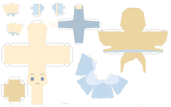 Cinderella papercraft by Zenny-Again